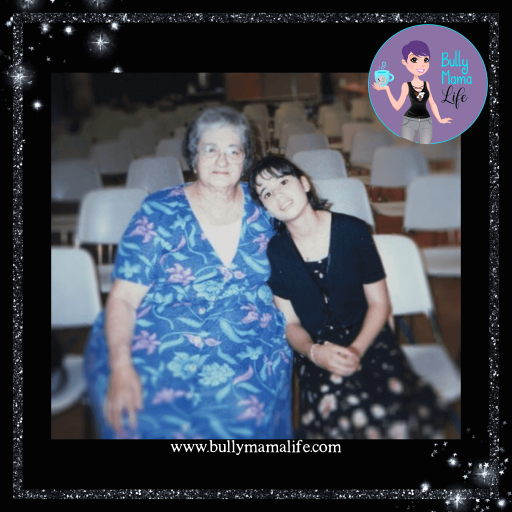 Nonny and me. 1996. A story about earrings and grief. #misshereveryday #bullymamalife www.bullymamalife.com