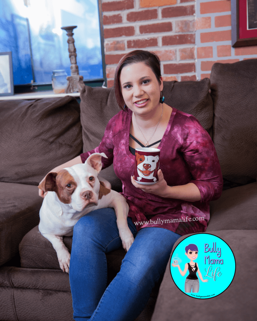 Photo of me with my dog Celia Mae. photoshoots and personal branding, a story about friendship and awkwardness. #bullymamalife www.bullymamalife.com
